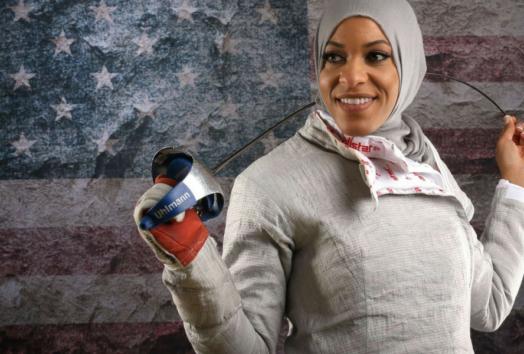 Ibtihaj Muhammad African American Woman Fencer Rio 2016 Olympics