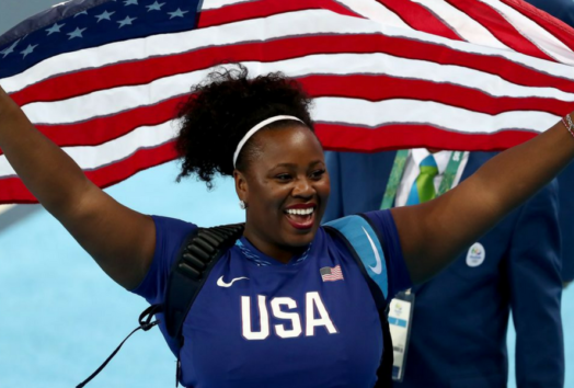 Michelle Carter Gold Medal African American Woman Shot Put Team USA Rio 2016 Olympics